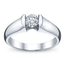 U Two Ladies 14K White Gold Tension-Set Diamond Engagement Ring