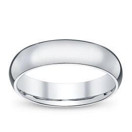 14k White Gold 5 mm Wedding Band