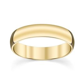 14k Yellow Gold 5 MM Comfort Fit Band