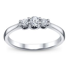 Cherish 14k White Gold Diamond Engagement Ring 1/4 ct. tw.