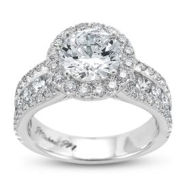 Michael M. 18k White Gold Diamond Engagement Ring Setting 1 1/3 ct. tw.