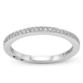 Tacori 18k White Gold Diamond Wedding Ring 1/6 ct. tw.