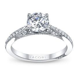 Tacori Ladies 18k White Gold and Diamond Engagement Ring