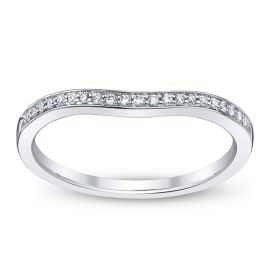 14k White Gold Diamond Wedding Band 1/10 ct. tw.