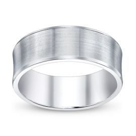 Gravure 14k White Gold Comfort Fit Wedding Band