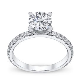 Michael M. Ladies 18k White Gold Diamond Engagement Ring