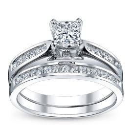 U Two 14k White Gold Diamond Wedding Set 1 1/3 ct. tw.