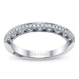 Tacori 18k White Gold Diamond Wedding Ring 1/5 ct. tw.