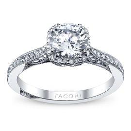 Tacori Ladies 18k White Gold Diamond Engagement Ring