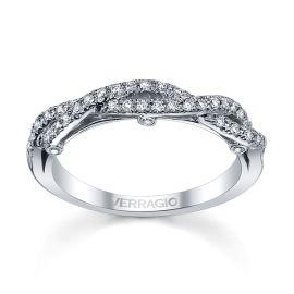 Verragio 18k White Gold Diamond Wedding Band 1/4 ct. tw.