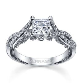 Verragio 18k White Gold Diamond Engagement Ring Setting 1/3 ct. tw.