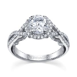 Verragio Ladies 18k White Gold Diamond Engagement Ring