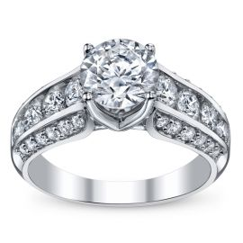 RB Signature 14k White Gold Diamond Engagement Ring Setting 1 1/4 ct. tw. .