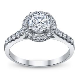 RB Signature 14k White Gold Diamond Engagement Ring Setting 1/2 ct. tw. .