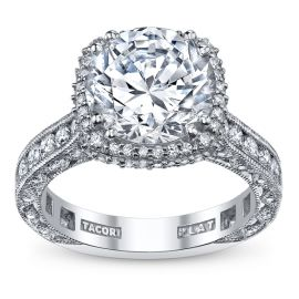 Tacori RoyalT Platinum Diamond Engagement Ring