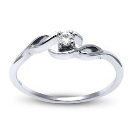 Cherish 10k White Gold Promise Ring .05 ct. tw.