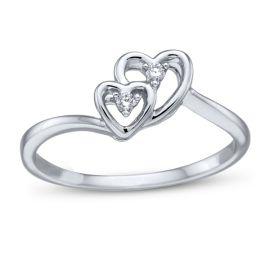 Cherish 10k White Gold Promise Ring .02 ct. tw.
