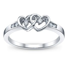 Cherish 10k White Gold Promise Ring .06 ct. tw.