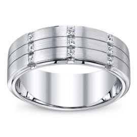 14k White Gold Diamond Wedding Band 1/4 ct. tw.