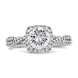 Verragio 14k White Gold Diamond Engagement Ring Setting 1/3 ct. tw.