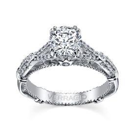 Verragio 14k White Gold Diamond Engagement Ring Setting