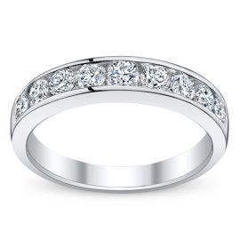 14k White Gold Diamond Wedding Ring 1 ct. tw.