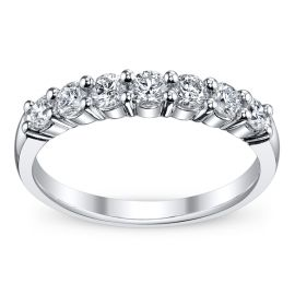 14k White Gold Diamond Wedding Band 3/4 ct. tw.