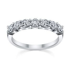 14k White Gold Diamond Wedding Band 1 ct. tw.