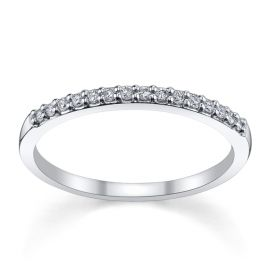 14k White Gold Diamond Wedding Band 1/7 ct. tw.