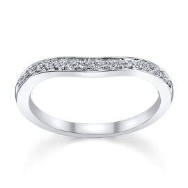 14k White Gold Diamond Wedding Band 1/8 ct. tw.