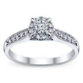 Cherish 10k White Gold Diamond Engagement Ring 1/3 ct. tw.