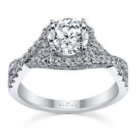 Divine Platinum Diamond Engagement Ring Setting 1/2 ct. tw.