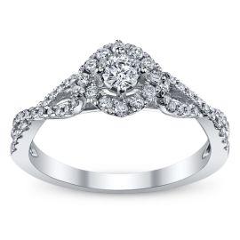 Cherish 10k White Gold Diamond Engagement Ring 1/2 ct. tw.