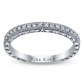Kirk Kara 18k White Gold Diamond Wedding Band 1/6 ct. tw.