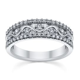 14k White Gold Diamond Wedding Ring 1/2 ct. tw.