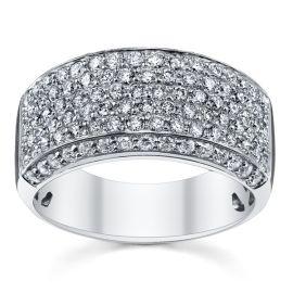 14k White Gold Diamond Wedding Ring 1 1/3 ct. tw.