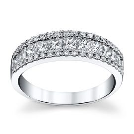 14k White Gold Diamond Wedding Ring 1 ct. tw.
