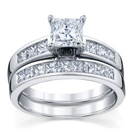 Utwo 14k White Gold Diamond Wedding Set 1 7/8 ct. tw.