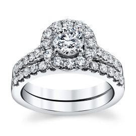 Utwo 14k White Gold Diamond Wedding Set 1 3/4 ct. tw.