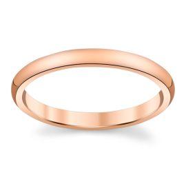 14k Rose Gold 2 mm Wedding Band