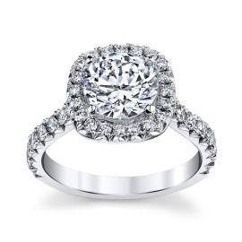 Michael M. 18k White Gold Diamond Engagement Ring Setting 3/4 ct. tw.
