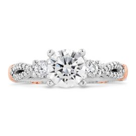 Verragio 14k White Gold and 14k Rose Gold Diamond Engagement Ring Setting 1/3 ct. tw.