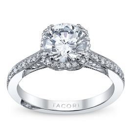 Tacori Platinum Diamond Engagement Ring Setting 1/4 ct. tw.
