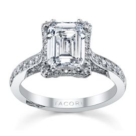 Tacori Platinum Diamond Engagement Ring Setting 1/3 ct. tw.