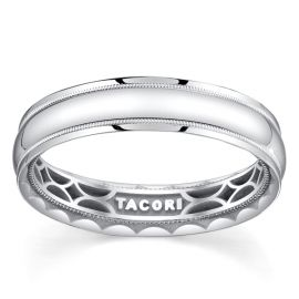 Tacori 18k White Gold 5 mm Wedding Band