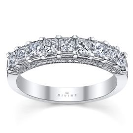 Divine 18k White Gold Diamond Wedding Band 1 1/4 ct. tw.