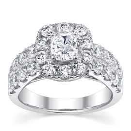 Poem 14k White Gold Diamond Engagement Ring 2 3/4 ct. tw.