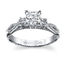 Verragio 14k White Gold Diamond Engagement Ring Setting 1/3 ct. tw.