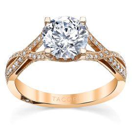 Tacori 18k Rose Gold Diamond Engagement Ring Setting 1/5 ct. tw.