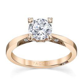 Tacori 18k Rose Gold Diamond Engagement Ring Setting .05 ct. tw.